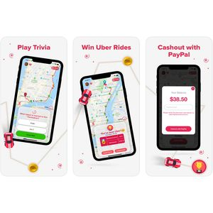App gives Apple iPhone users a shot at free Uber rides and cash prizes