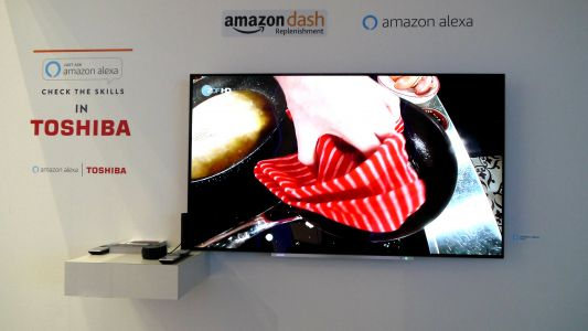 Toshiba finally finds its voice with its Alexa-enabled OLED TV