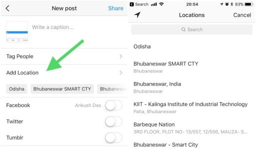How to Add a Location In Instagram