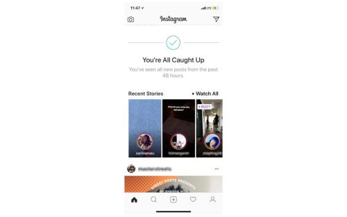Instagram launches 'You're All Caught Up' feature to help users deal with the algorithm