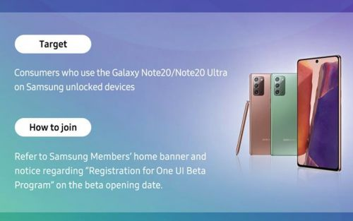 Samsung Galaxy Note 20 starts to receive One UI 3.0 public beta