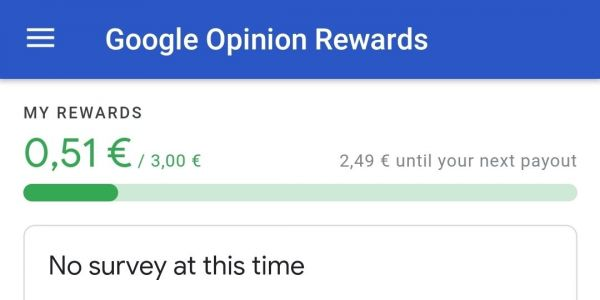 Google Opinion Rewards testing Material Theme, now includes total survey count