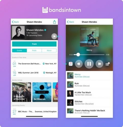 Concert App Bandsintown Gains Native Apple Music Integration