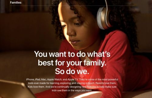 Apple Adds New 'Families' Section to its Website With Tips for Parents
