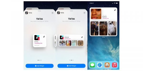 TikTok app updated with new iOS 14 home screen widgets for trending videos