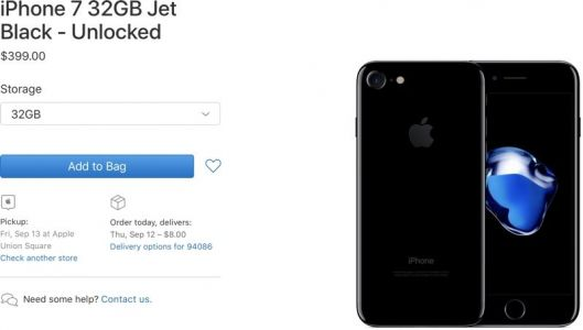 Apple Adds Now-Discontinued iPhone 7 Models to Clearance Site