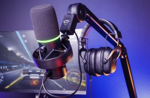 Trust GXT 255+ ONYX professional USB microphone for computer gaming and more