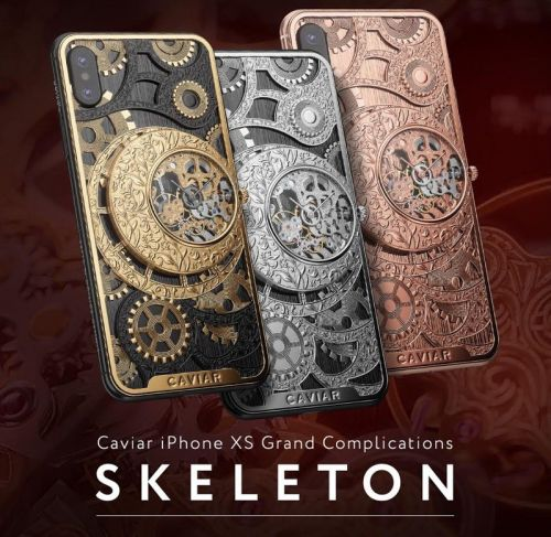 Caviar Launches $6,000+ Custom iPhone XS With Built-In Mechanical Skeleton Watch