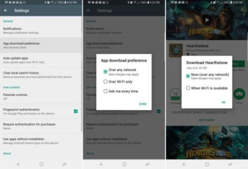Google's Play Store Gets Network Download Options
