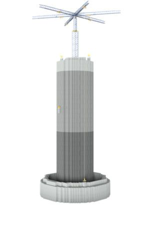 Battery idea: Hydroelectric pumped storage, but with bricks