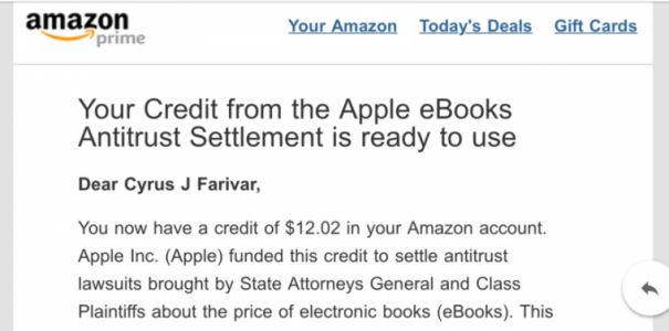 Amazon sends out another round of settlement payments from e-book case