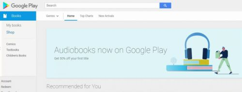 Google slip up reveals audiobooks are coming to the Play Store