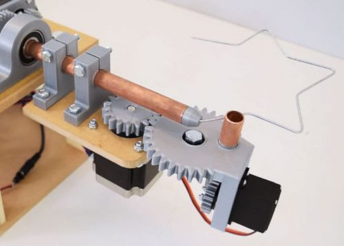 DIY Arduino 3D wire bending machine