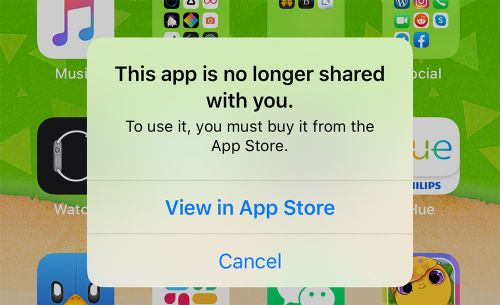 Apple Confirms 'No Longer Shared' App Bug Has Been Fixed