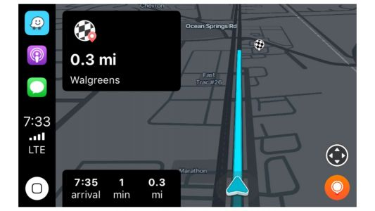 Waze navigation now works with CarPlay
