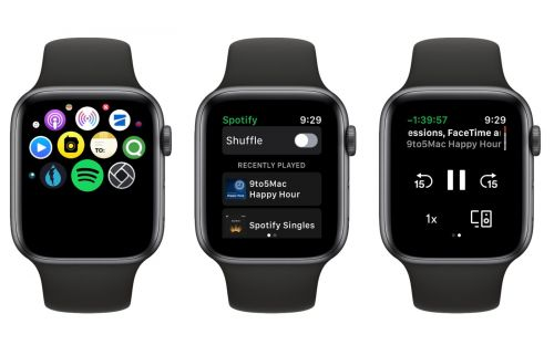 Spotify releases 'first version' of its Apple Watch app with limited features