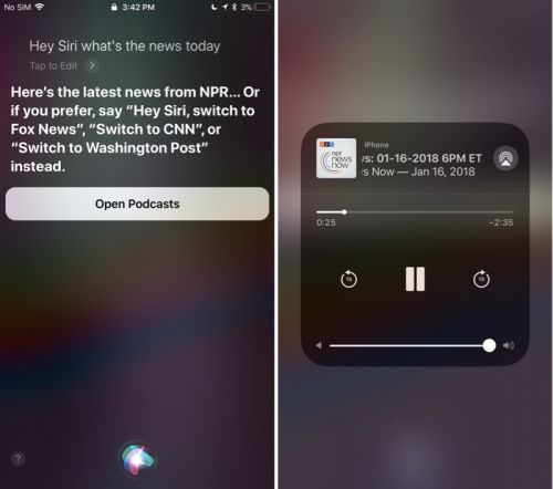 New Siri Podcast News Feature Begins Rolling Out in iOS 11.2.2