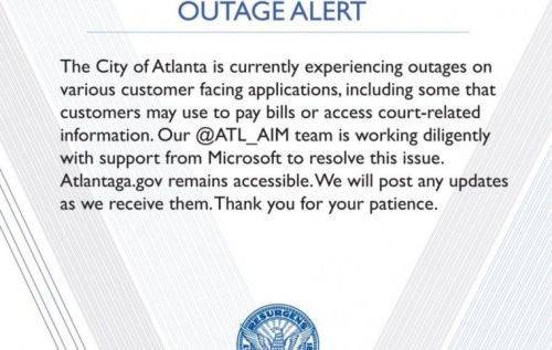 Atlanta city government systems down due to ransomware attack
