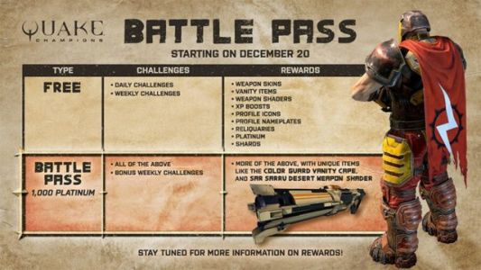 Bethesda Introduces Battle Pass System To Quake Champions