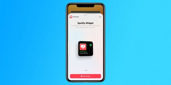 TuneTrack app brings Spotify widget to your iOS 14 home screen