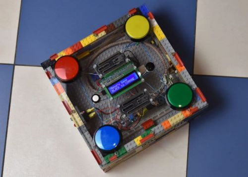 DIY Arduino 4 Button Arcade Game Project