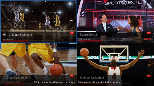 PlayStation Vue adds four-stream multiview for Apple TV