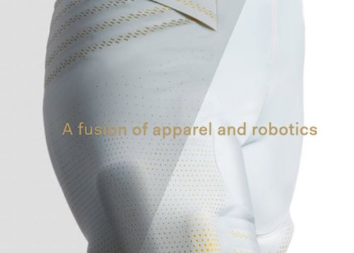 Seismic Powered Clothing equipped with electromechanical muscles