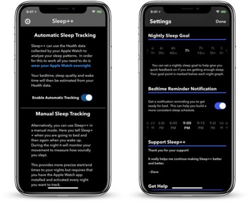 Sleep++ App for Apple Watch Now Offers Automatic Sleep Tracking