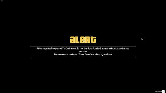 GTA Online Guide: Files Required Error Message Fix