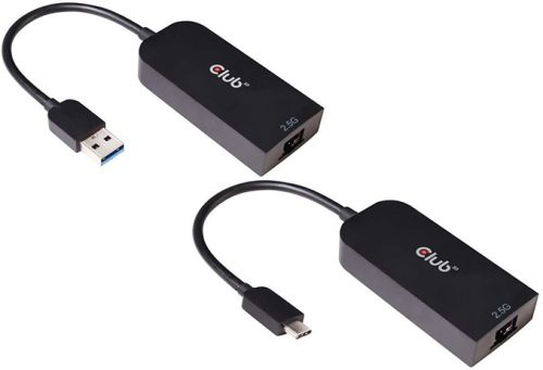 Club 3D Launches 2.5 GbE USB Type-A & USB Type-C Dongles