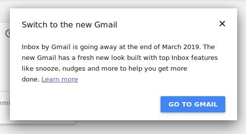 Inbox Users Are Being Reminded To Switch To Gmail