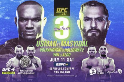 Catch UFC 251 Live From UFC Fight Island This Saturday