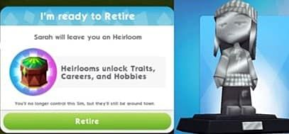 The Sims Mobile Aging, Retirement, and Heirlooms Guide