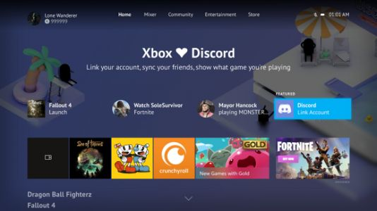 Xbox Live and Discord get basic integration
