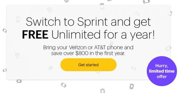 Sprint Offering A Year Of Free Service, For AT&T & Verizon Switchers