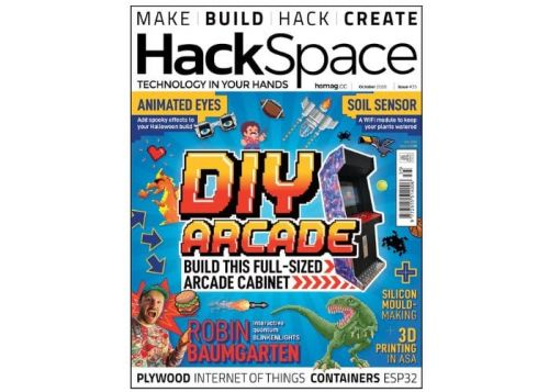 Build a full size arcade cabinet with this months HackSpace magazine