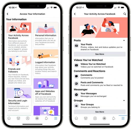 Facebook Updates 'Access Your Information' Tool for Data Management