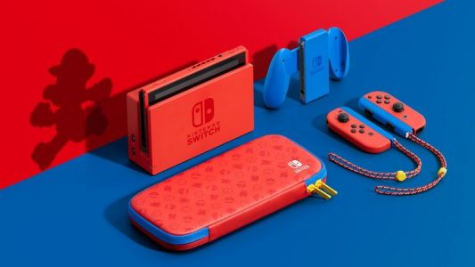 Jump up with a Mario Red and Blue Edition Nintendo Switch in February