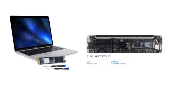 Update your old Mac with OWC's new Aura Pro X2 SSD upgrade kits