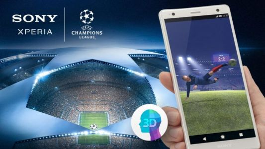 Put yourself in the Champions League final with Xperia Lounge and 3D Creator