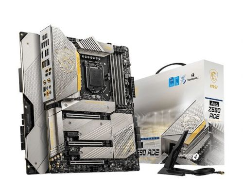 MSI Drops A Bling Bling Motherboard: the MEG Z590 Ace Gold Edition