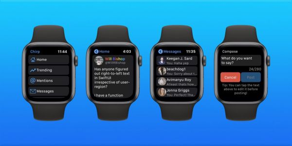 Chirp 2 for Apple Watch brings infinite Twitter timeline, major speed boost on watchOS 6, more