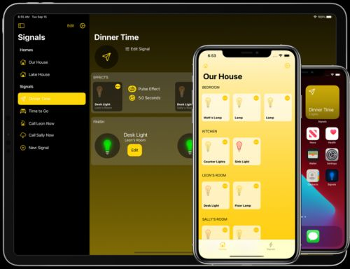 Signals for HomeKit app can get everyone's attention with lighting effects
