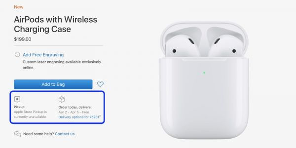 AirPods 2 with Wireless Charging Case shipping slips to April soon after launch
