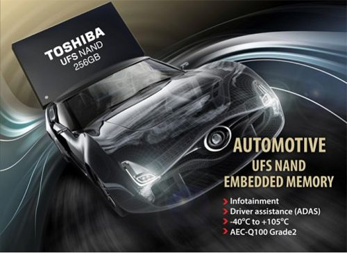 Toshiba Samples eUFS Devices for Vehicles: Extended Temps & Reliability Features