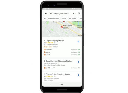 Google Maps Will Now Show If An EV Station Is In Use