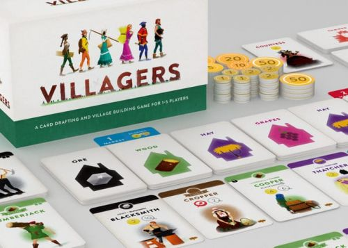 Villagers Card Drafting And Village Building Game For 1-5 Players