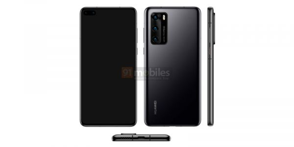 Alleged Huawei P40 press images show dual punch-hole notch, triple camera setup