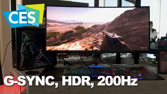 CES 2019: The ASUS PG35VQ monitor combines G-SYNC, HDR, and 200Hz