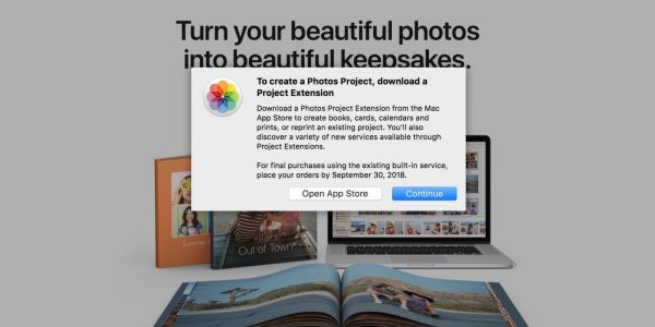 Apple discontinues its own photo printing service, recommends third-party Photos Projects apps instead